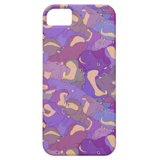 Laughing Hippos - purple iPhone 5 Case