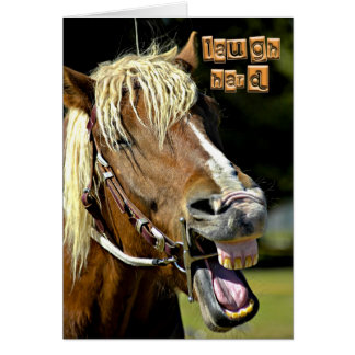 Laughing Horse Card