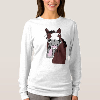 Laughing Horse Head  Humor for Horse Lovers T-Shirt