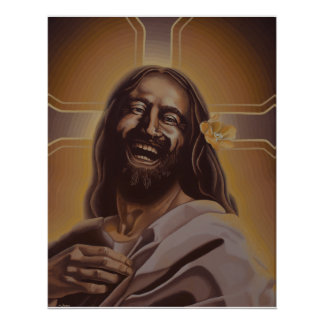 Laughing Jesus poster