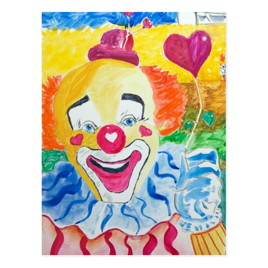 Laughing Larry the Clown Postcard