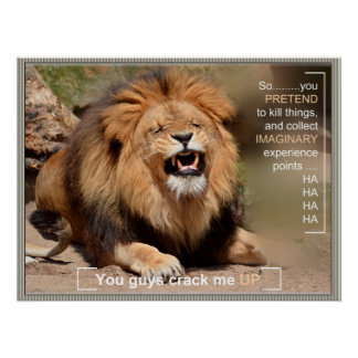 Laughing Lion ID258 Poster