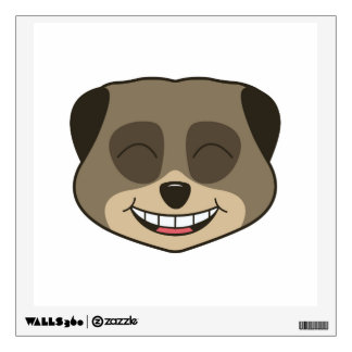 Laughing meerkat expression wall sticker