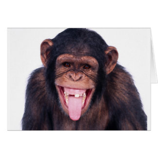 Laughing Monkey Card