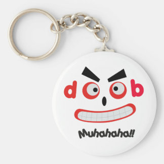 Laughing Monster Basic Round Button Keychain