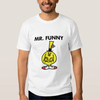 Laughing Mr. Funny With Flower Tshirts