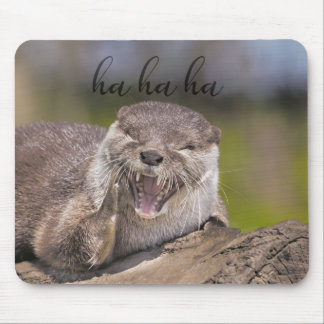 Laughing Otter Mouse Pad
