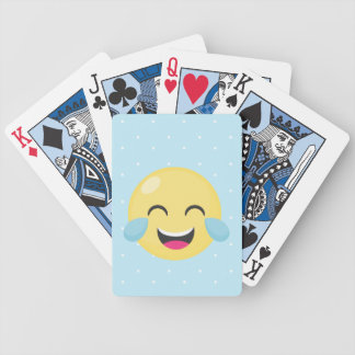 Laughing Out Loud Emoji Dots Bicycle Playing Cards