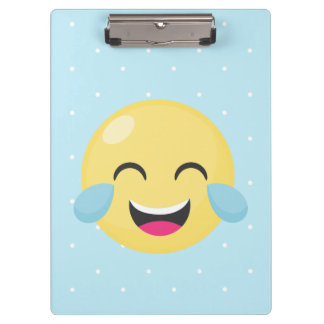 Laughing Out Loud Emoji Dots Clipboard
