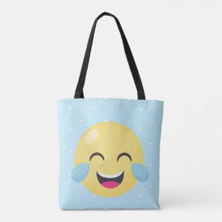 Laughing Out Loud Emoji Dots Tote Bag