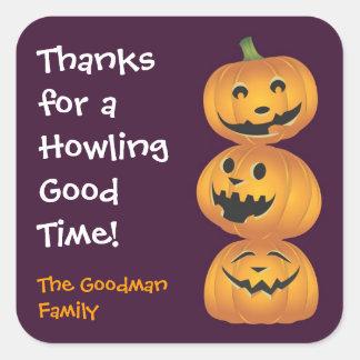 Laughing pumpkins fun cute Halloween favor tag