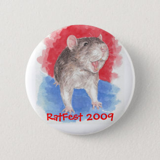 laughing rat, Ratfest 2009 2 Inch Round Button