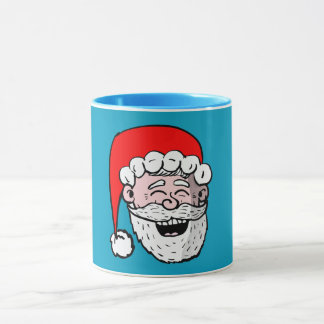 Laughing Santa Head mug