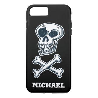 laughing skull and bones cartoon style iPhone 8 plus/7 plus case