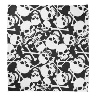 Laughing skull and crossbones do-rag