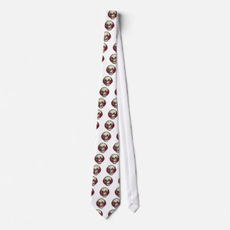 laughing skull comic style illustration tie
