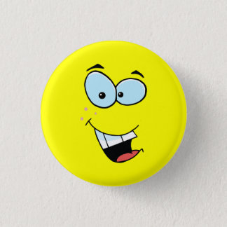 Laughing Smiley Face 1 Inch Round Button