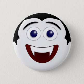 Laughing Smiley Vampire Halloween 2 Inch Round Button