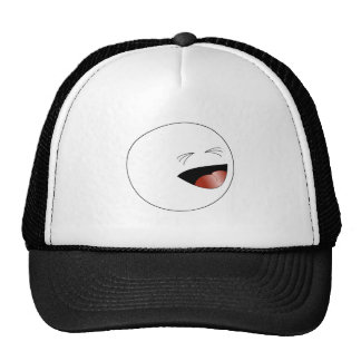 Laughing Stick Figure Head Trucker Hat