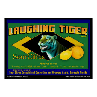 Laughing Tiger Sour Citrus poster