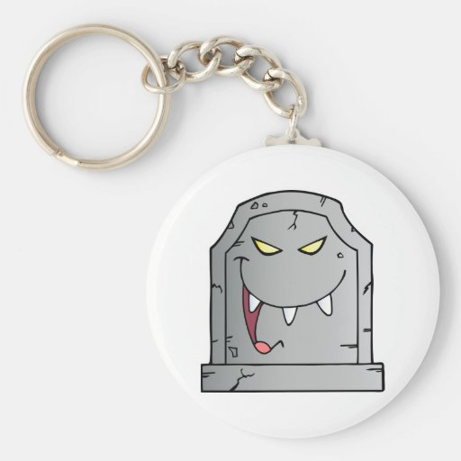 Laughing Tombstone Cartoon Character Key Chain