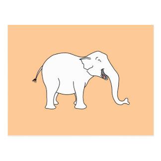 Laughing White Elephant. Postcard