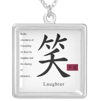 Laughter 1 silver plated necklace