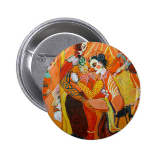 Laughter - Clown Painting 2 Inch Round Button