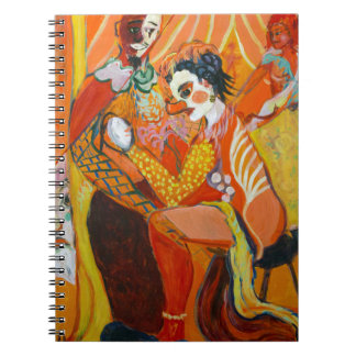 Laughter - Clown Painting Spiral Note Book