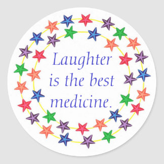 Laughter is the best medicine, stars stickers