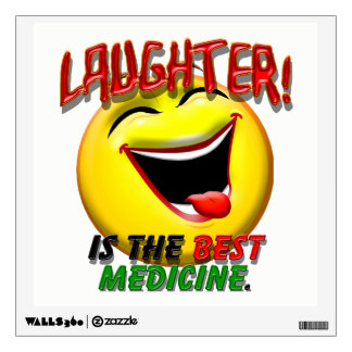 Laughter is the Best Medicine Wall Sticker