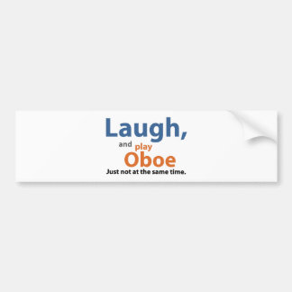 Laugn and Play Oboe Bumper Sticker