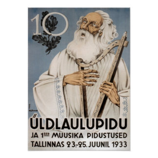 Laulupidu, Vanamuine Poster 1933
