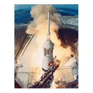 Launch of a Rocket Postcard