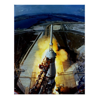 Launch of First Men to the Moon - Apollo 11 Poster