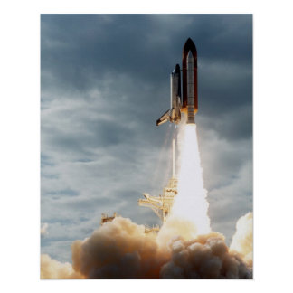 Launch of Space Shuttle Columbia (STS-80) Poster