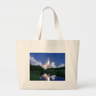 Launch of Space Shuttle Large Tote Bag
