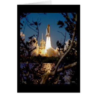 Launch of Space Shuttle STS-99 Greeting Card