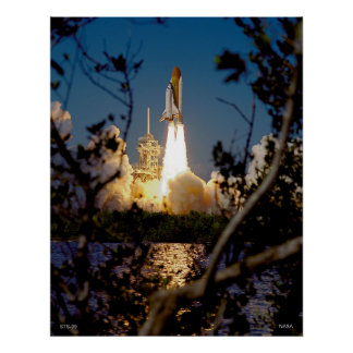 Launch of Space Shuttle STS-99 Poster