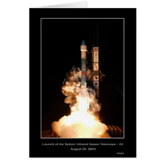 Launch of the Spitzer Infrared Space Telescope-03  Greeting Card