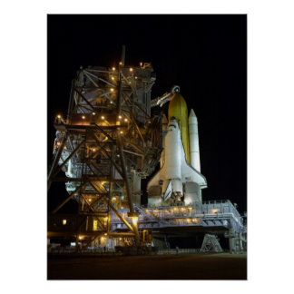 Launch Preparations for Space Shuttle Atlantis Poster