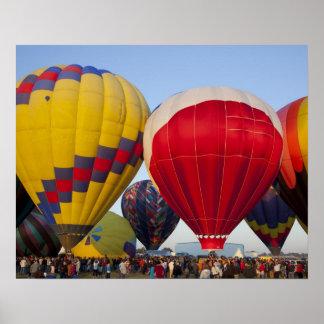 Launching hot air balloons 2 poster