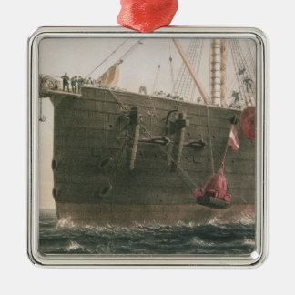 Launching the buoy, August 8th, 1865, marking the Silver-Colored Square Ornament