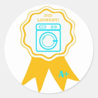 Laundry Award Round Sticker