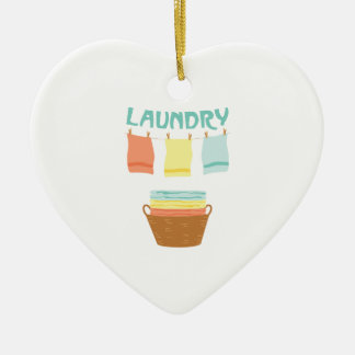 Laundry Ceramic Ornament