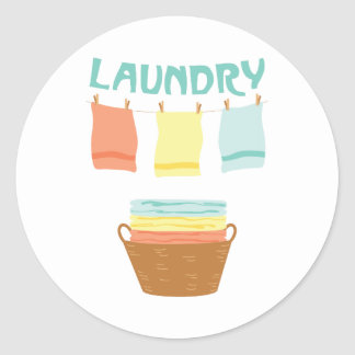 Laundry Classic Round Sticker