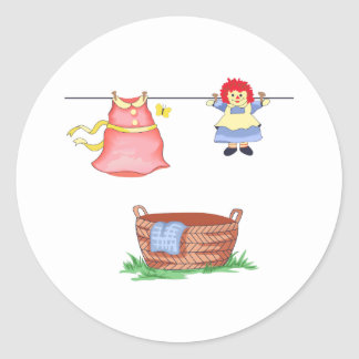 LAUNDRY DAY CLASSIC ROUND STICKER