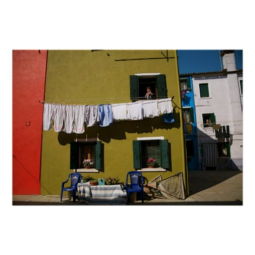 Laundry Day in Burano II Poster