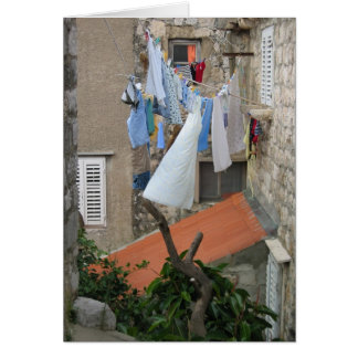 Laundry day in Dubrovnik Card
