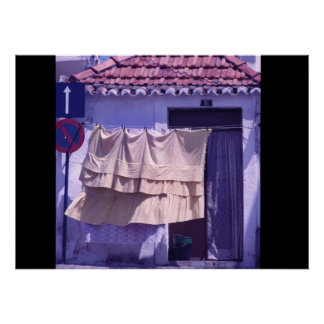 Laundry day in Portugal Poster